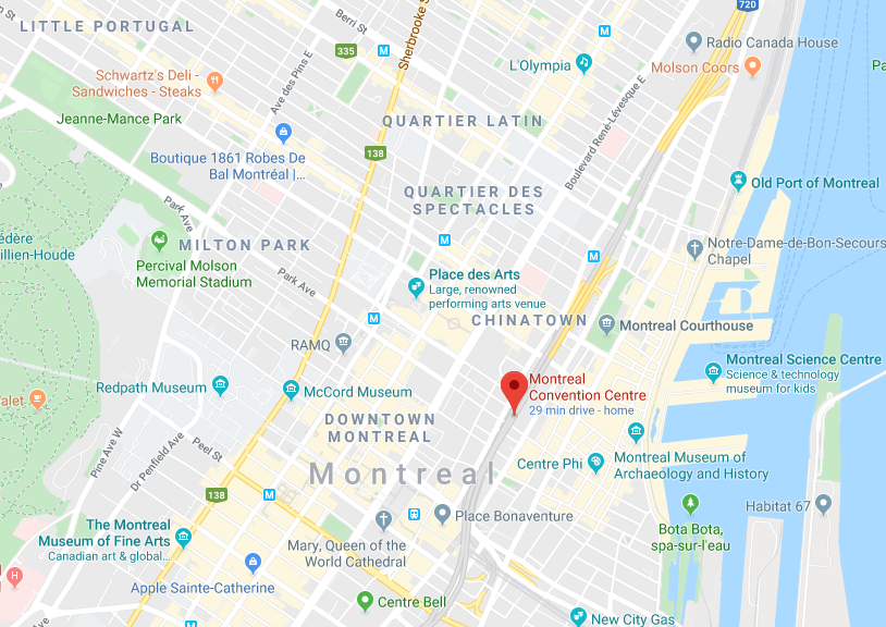 Direction to Montreal Convention Centre