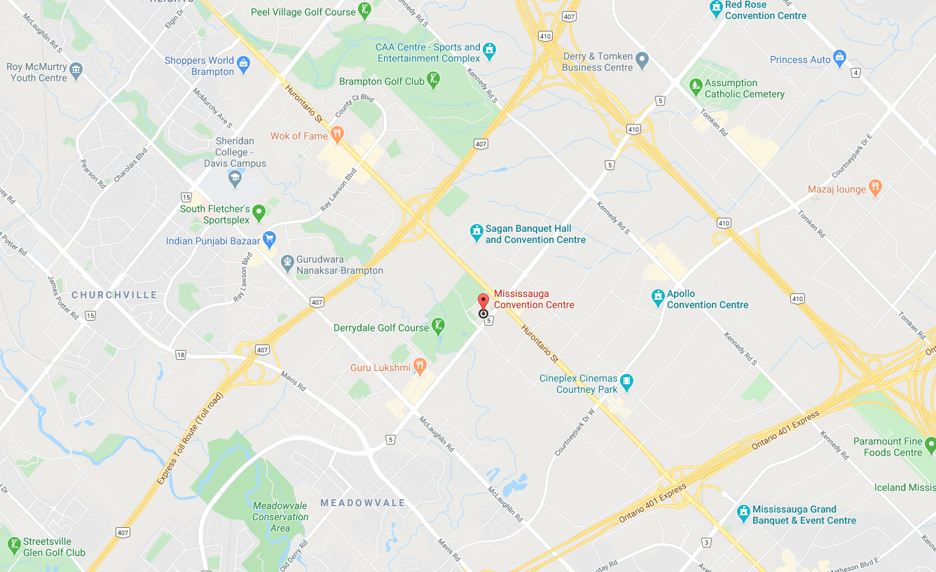 Direction to Mississauga Convention Centre
