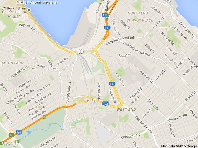 Halifax's office map