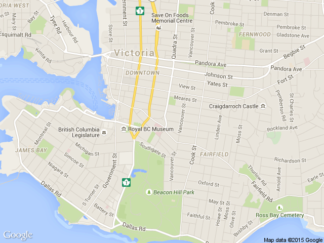 Victoria's office map, Nethris British Colombia